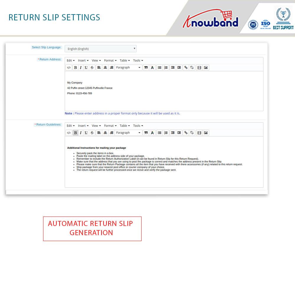 module - Customer Service - Knowband - Order Return Manager(Return Slip & Barcode) - 10
