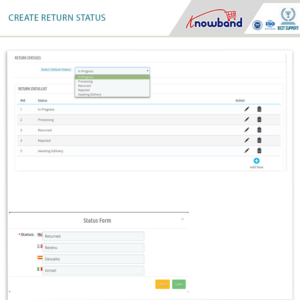 module - Customer Service - Knowband - Order Return Manager(Return Slip & Barcode) - 12