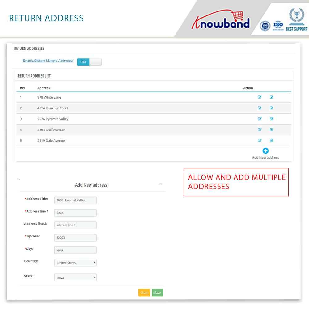 module - Customer Service - Knowband - Order Return Manager(Return Slip & Barcode) - 13