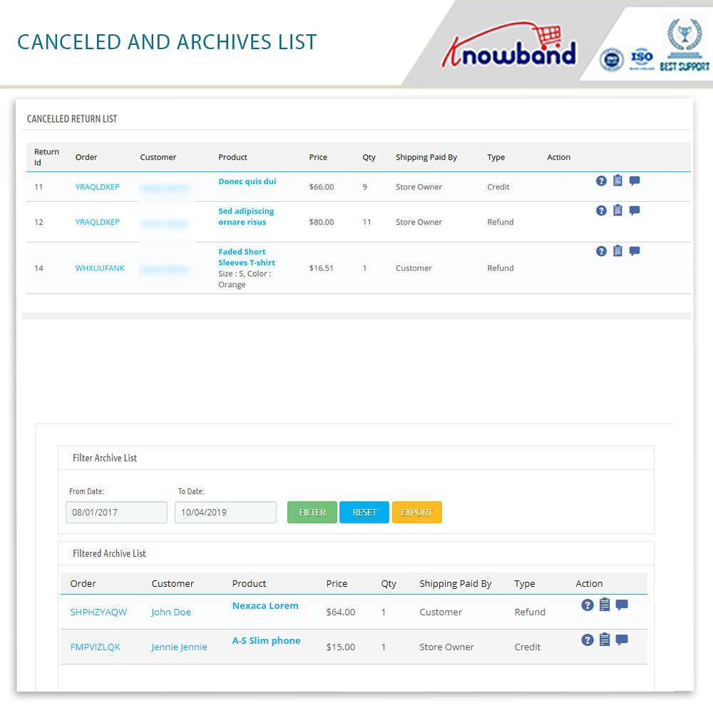 module - Customer Service - Knowband - Order Return Manager(Return Slip & Barcode) - 16