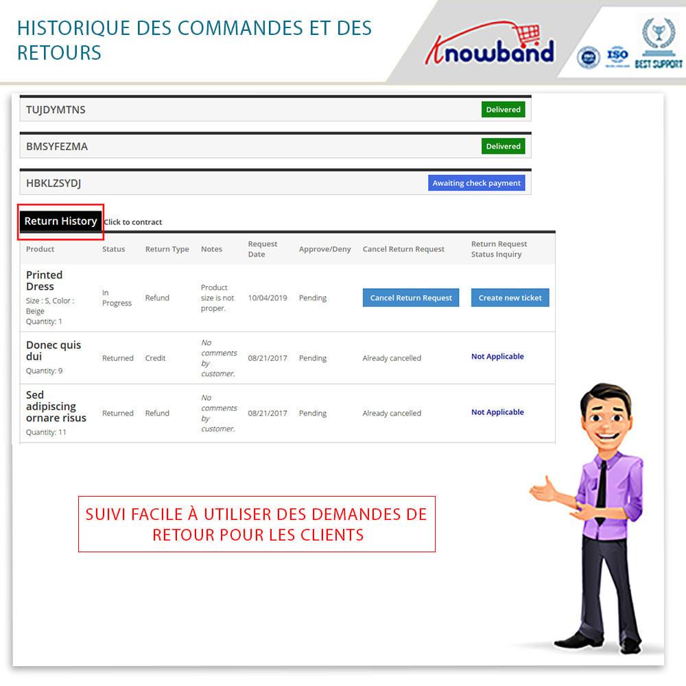 module - Service Client - Knowband - Gestionnaire de Retour des Commandes - 5