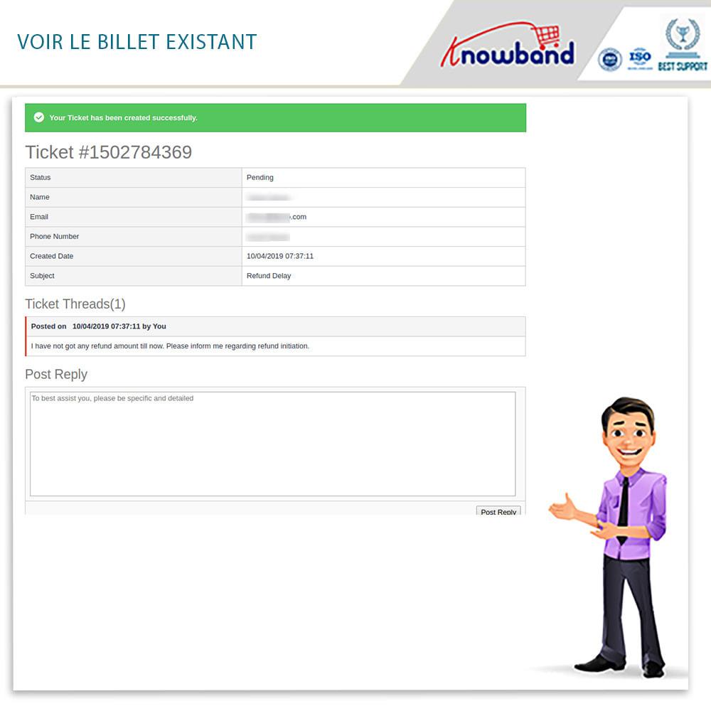 module - Service Client - Knowband - Gestionnaire de Retour des Commandes - 7