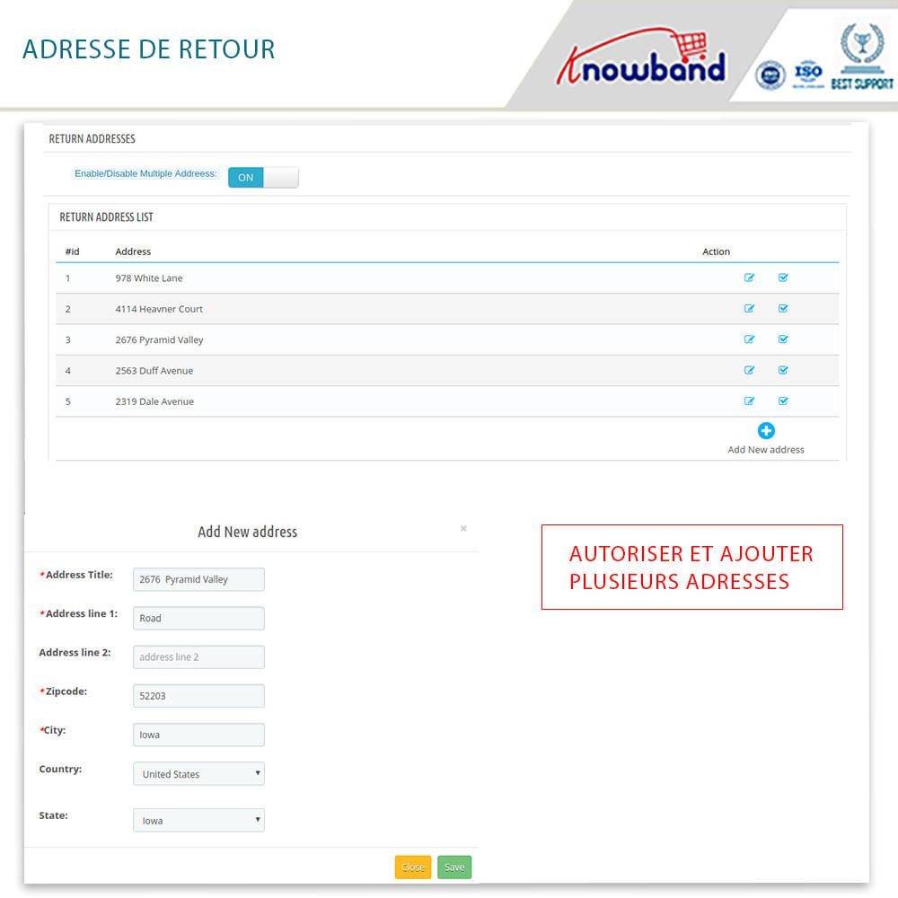 module - Service Client - Knowband - Gestionnaire de Retour des Commandes - 13