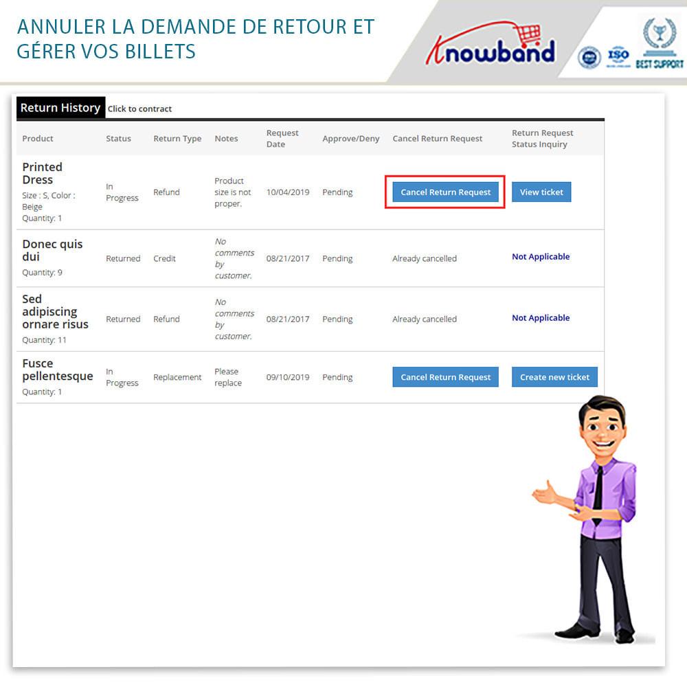 module - Service Client - Knowband - Gestionnaire de Retour des Commandes - 8
