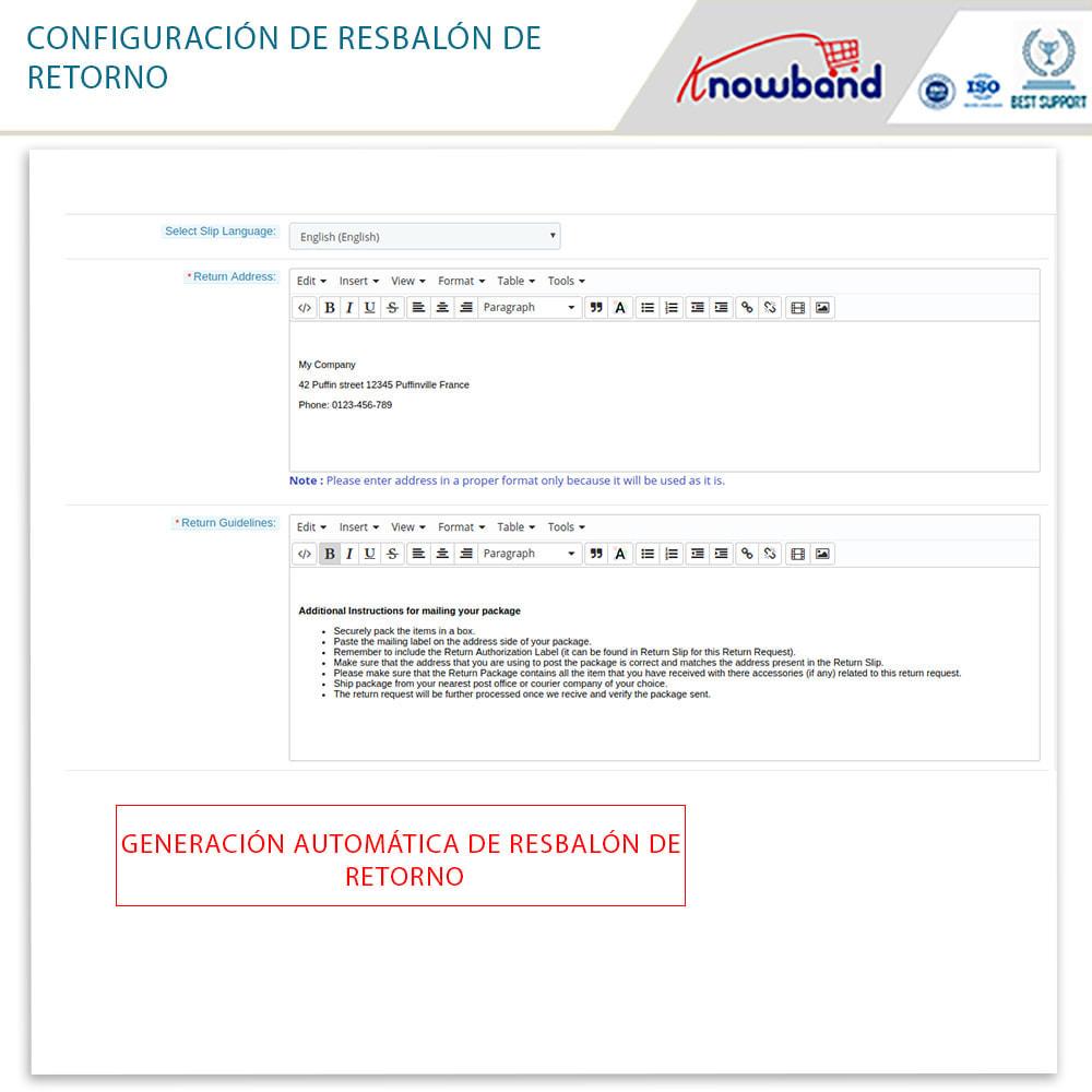 module - Servicio posventa - Knowband - Gestor de Devolución de Pedidos - 10