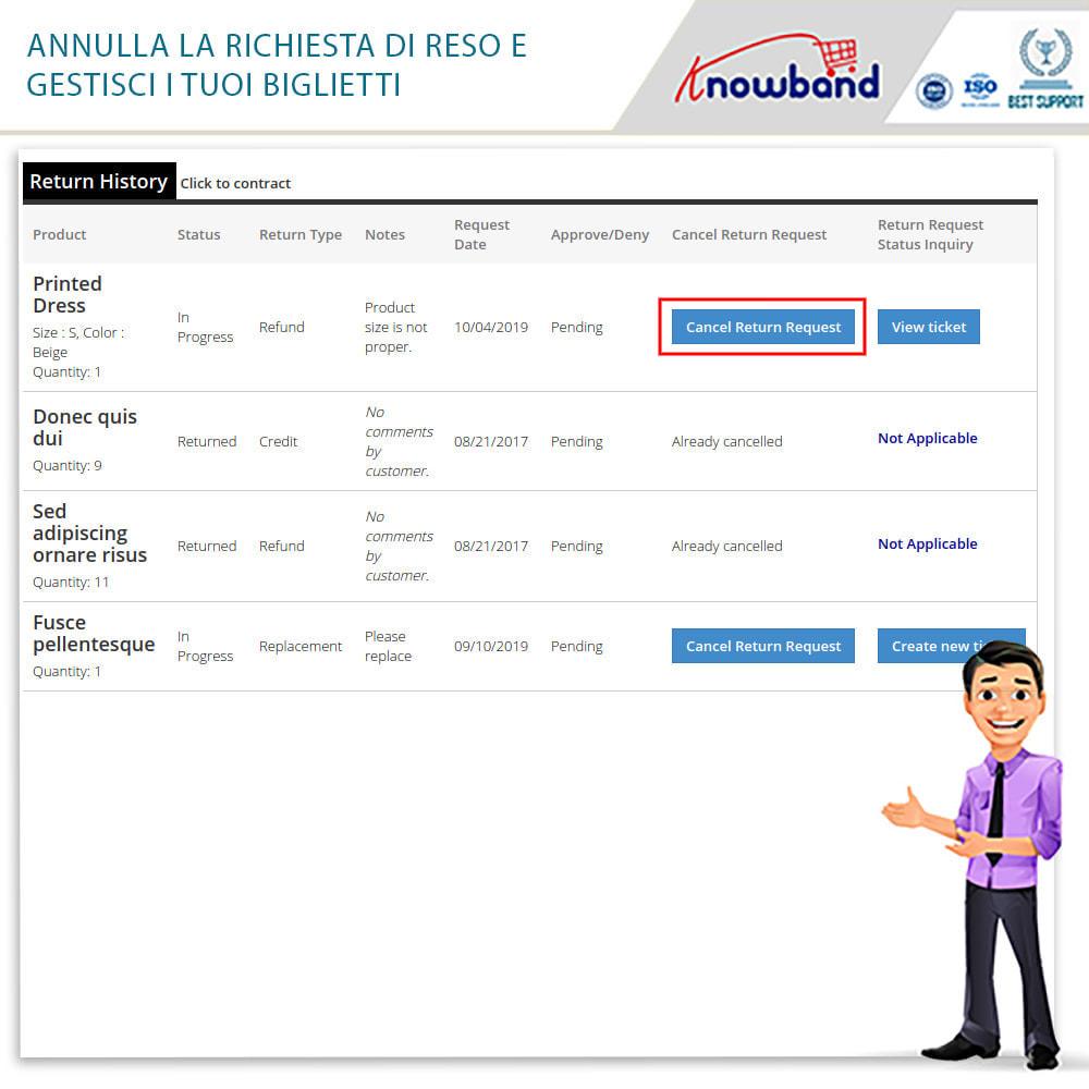 module - Servizio post-vendita - Knowband - Gestore Ordini di Restituzione - 8