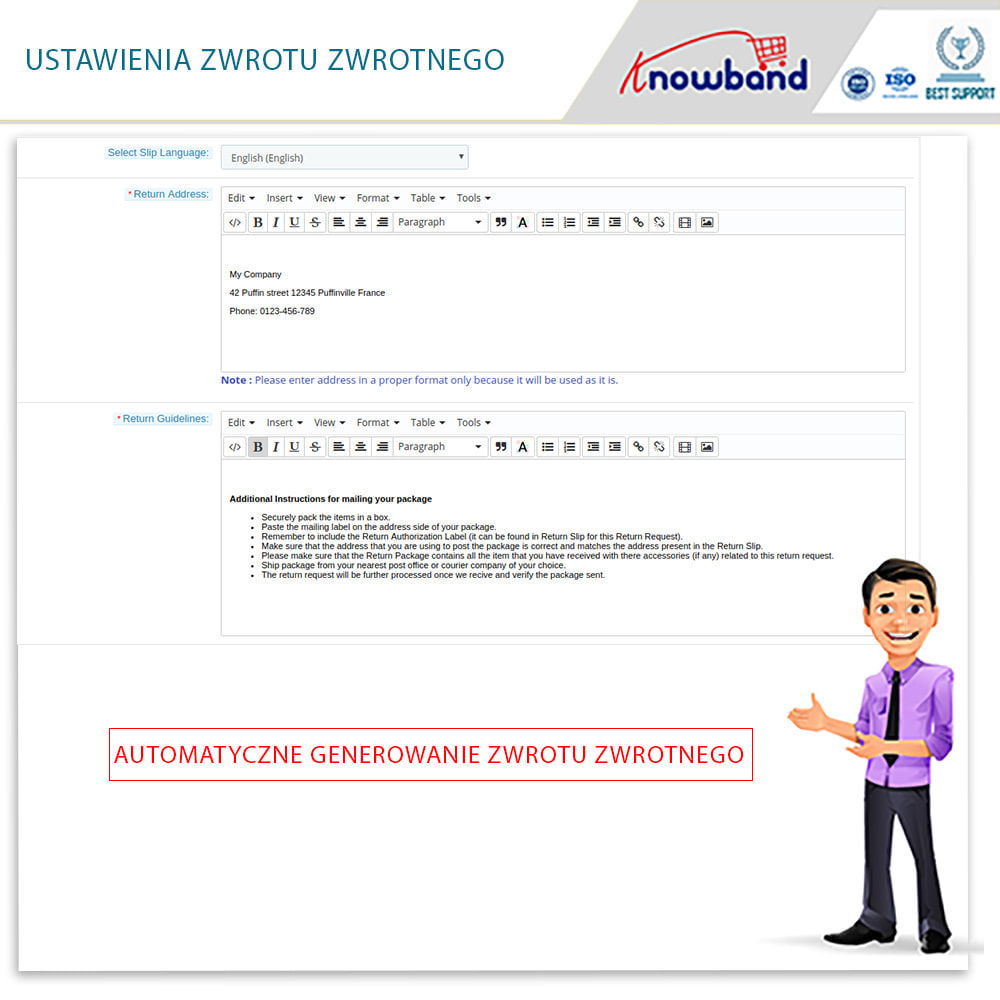 module - Serwis posprzedażowy - Knowband - Order Return Manager(Return Slip & Barcode) - 10