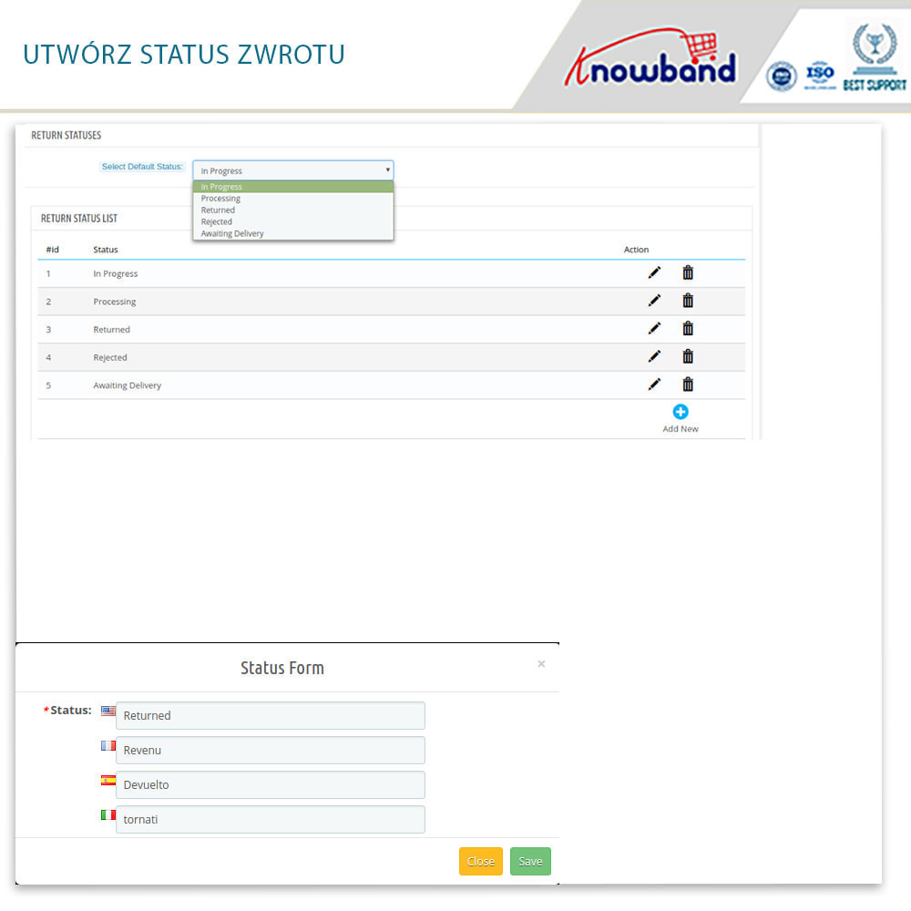 module - Serwis posprzedażowy - Knowband - Order Return Manager(Return Slip & Barcode) - 12