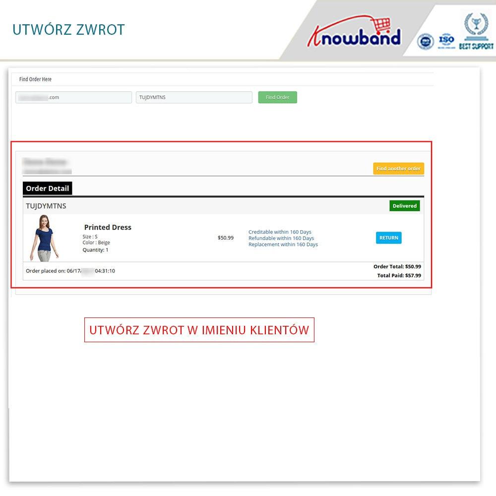 module - Serwis posprzedażowy - Knowband - Order Return Manager(Return Slip & Barcode) - 14