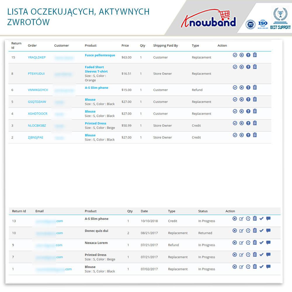 module - Serwis posprzedażowy - Knowband - Order Return Manager(Return Slip & Barcode) - 15