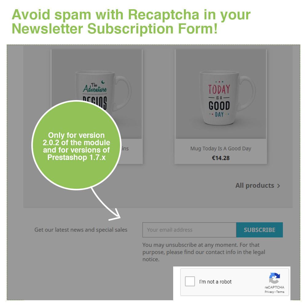module - Veiligheid & Toegang - Captcha - reCaptcha - Anti Spam Protection - 5