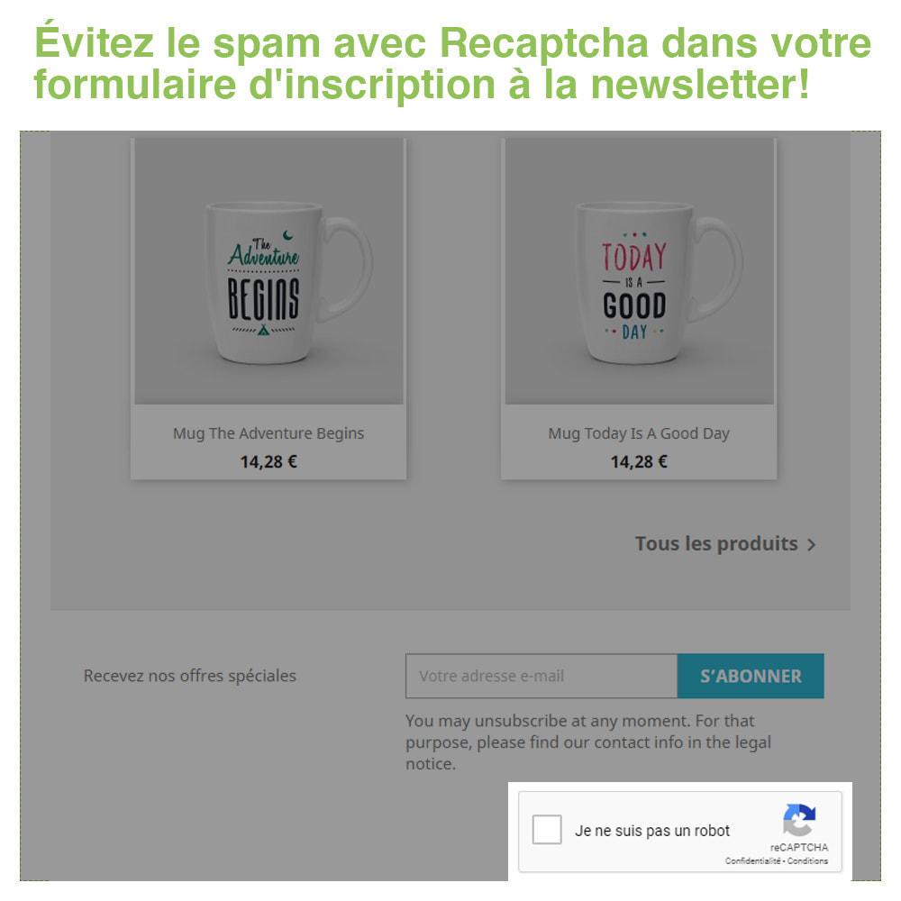 module - Sécurité & Accès - Captcha - reCaptcha - Anti Spam Protection - 4