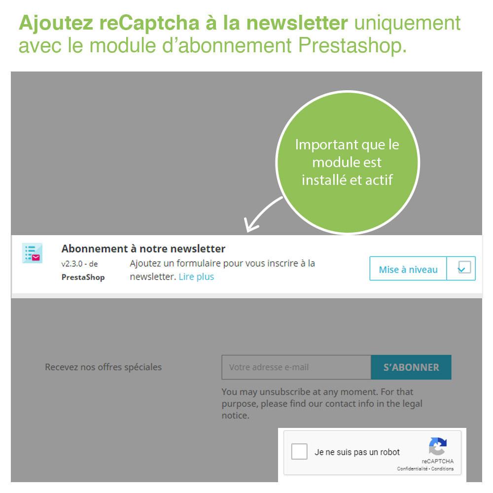 module - Sécurité & Accès - Captcha - reCaptcha - Anti Spam Protection - 6
