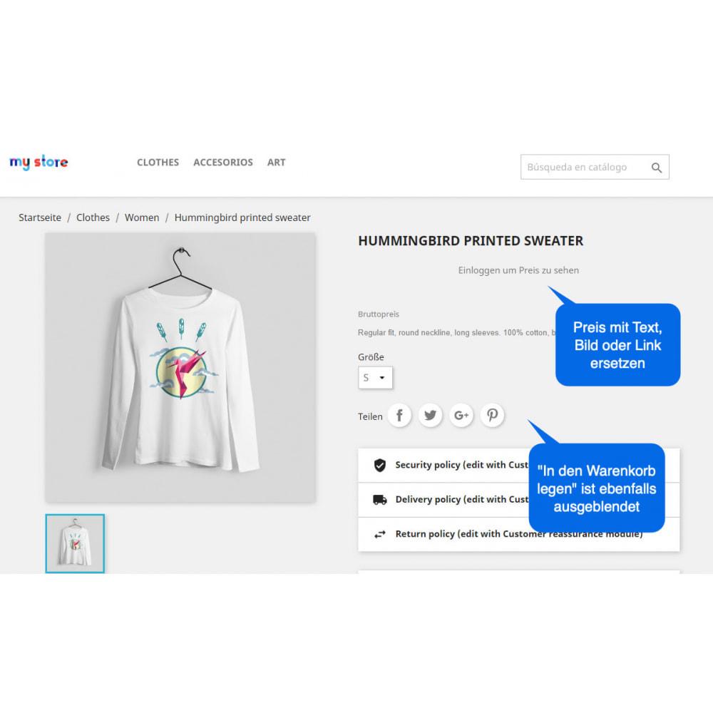 module - Anmeldung und Bestellvorgang - Preis Ausblenden & In den Warenkorb Legen Button - 3