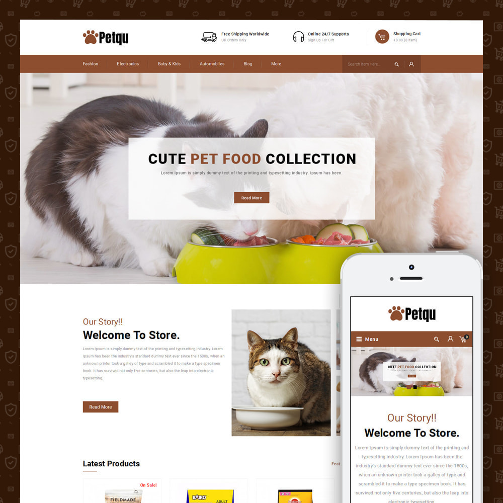 theme - Animals & Pets - Petqu - Pets Store - 1