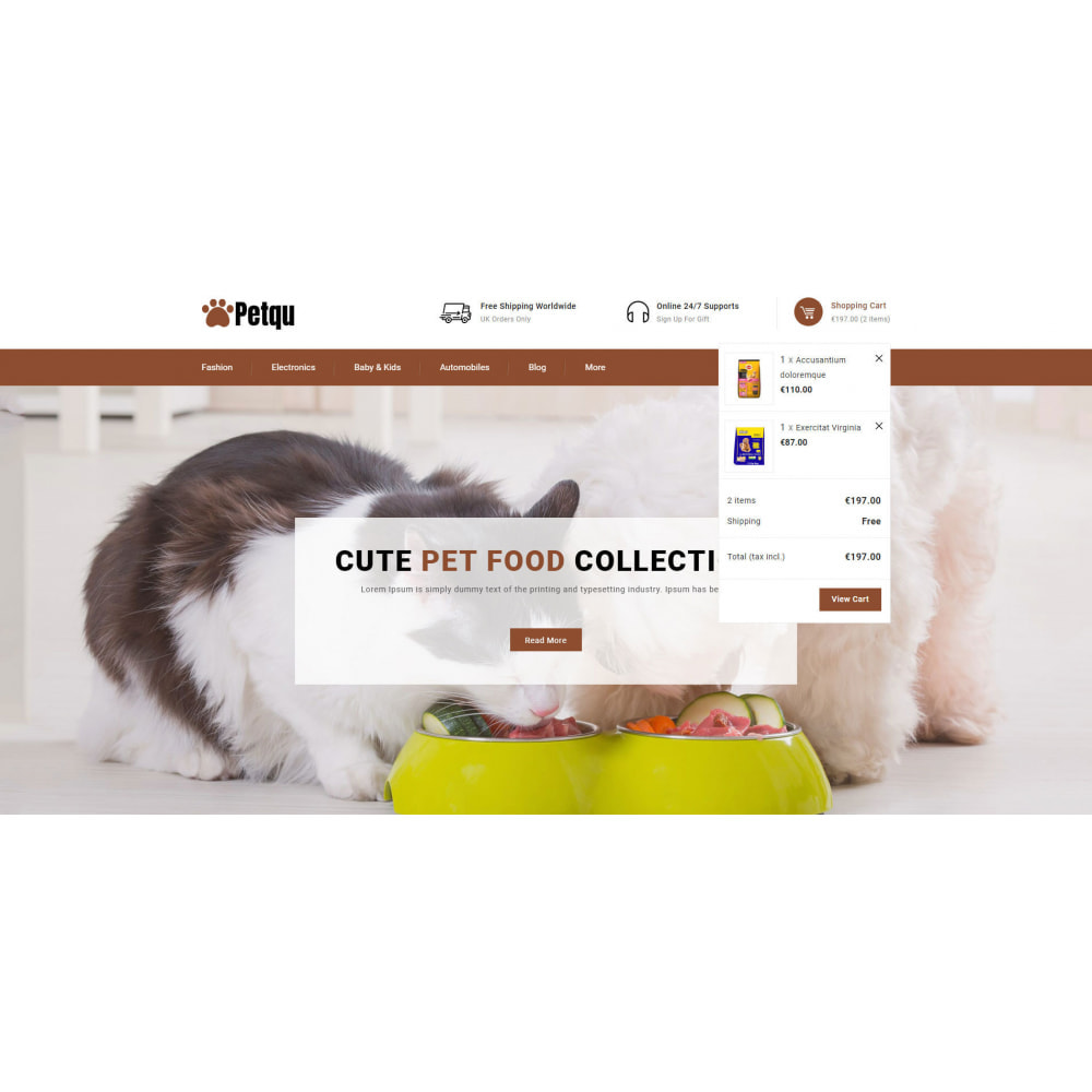 theme - Animals & Pets - Petqu - Pets Store - 8