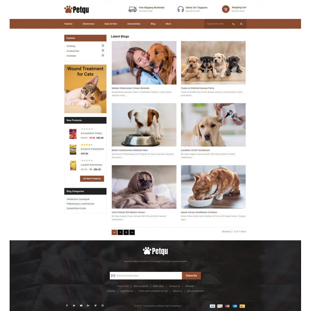 theme - Animals & Pets - Petqu - Pets Store - 9