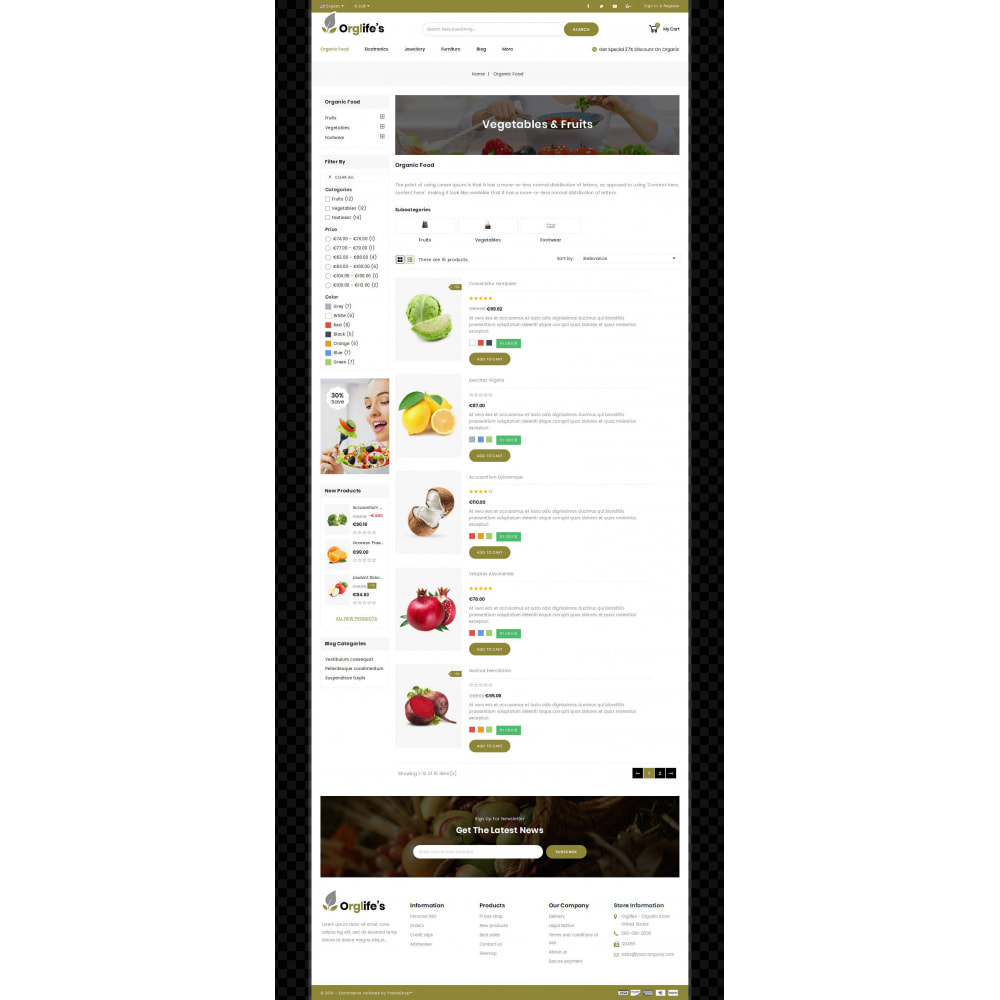 theme - Food & Restaurant - Orglifes - Organic Store - 3