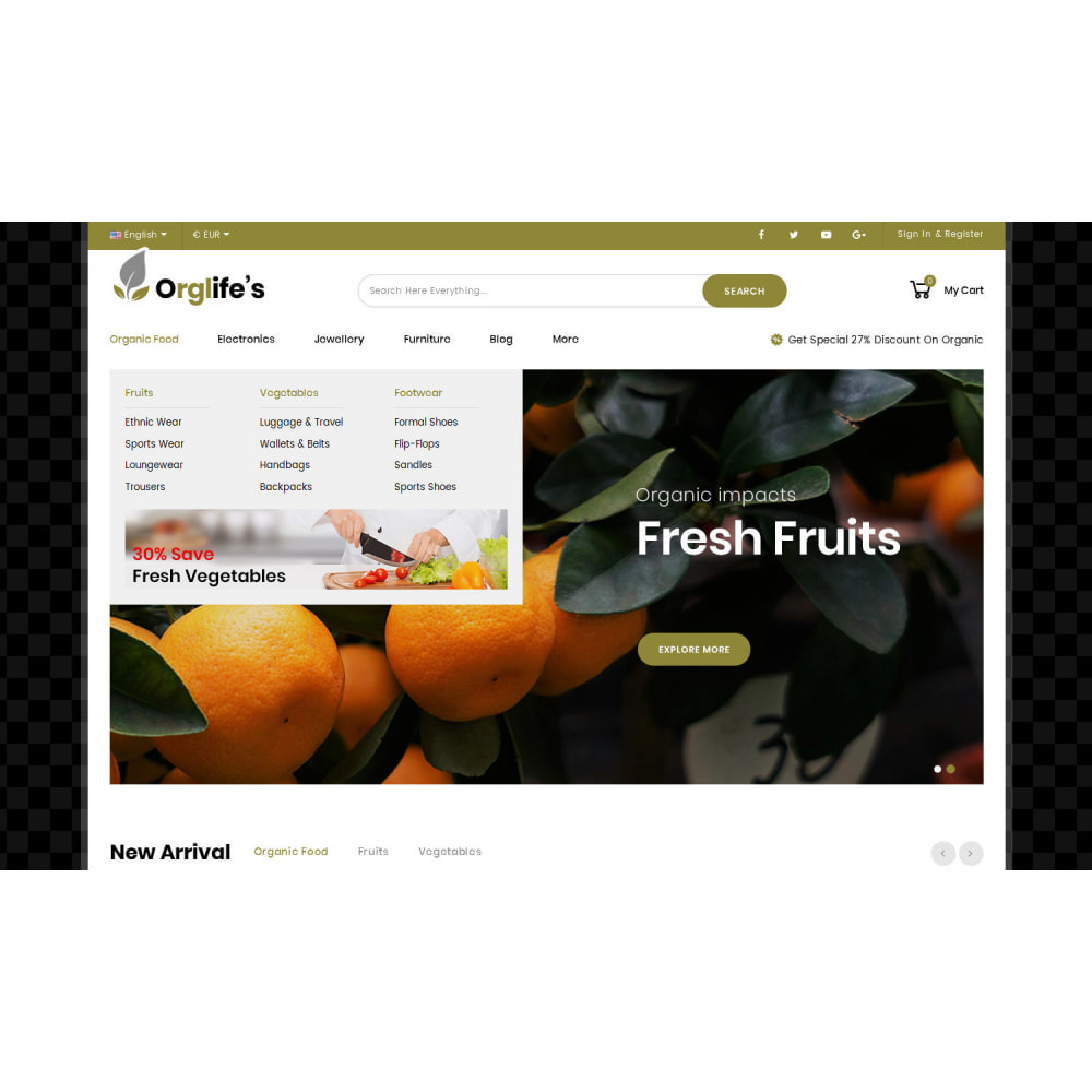 theme - Food & Restaurant - Orglifes - Organic Store - 5