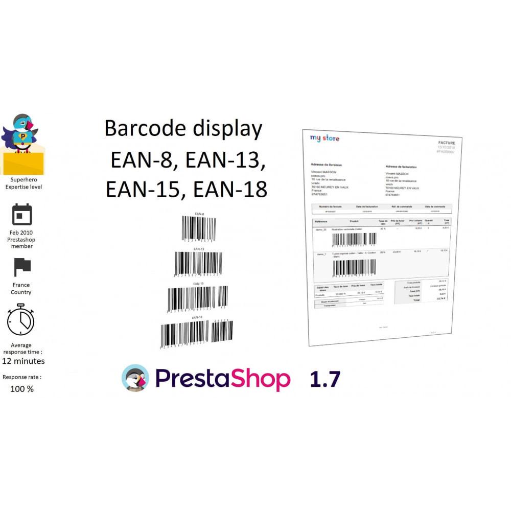 module - Voorbereiding & Verzending - Barcode EAN 8, 13, 15, 18 and stocks - 1