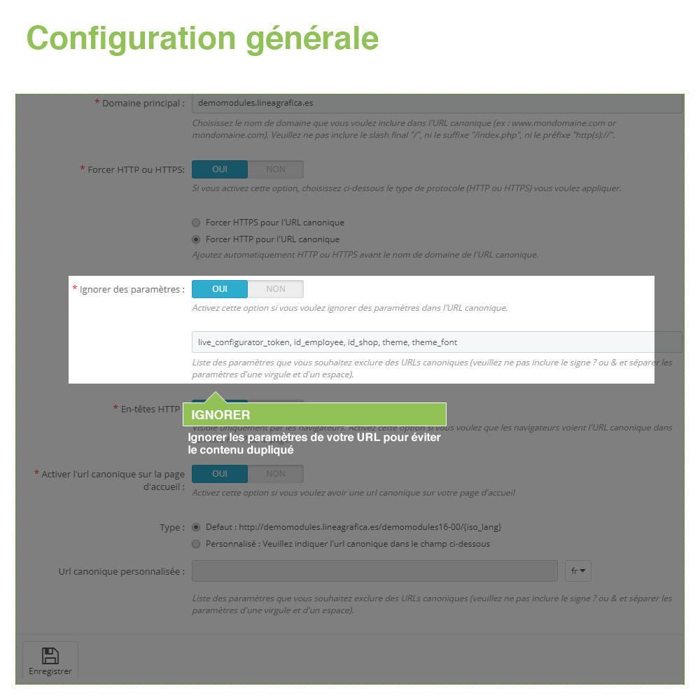 module - URL & Redirections - URL canoniques pour éviter les doublons - SEO - 4