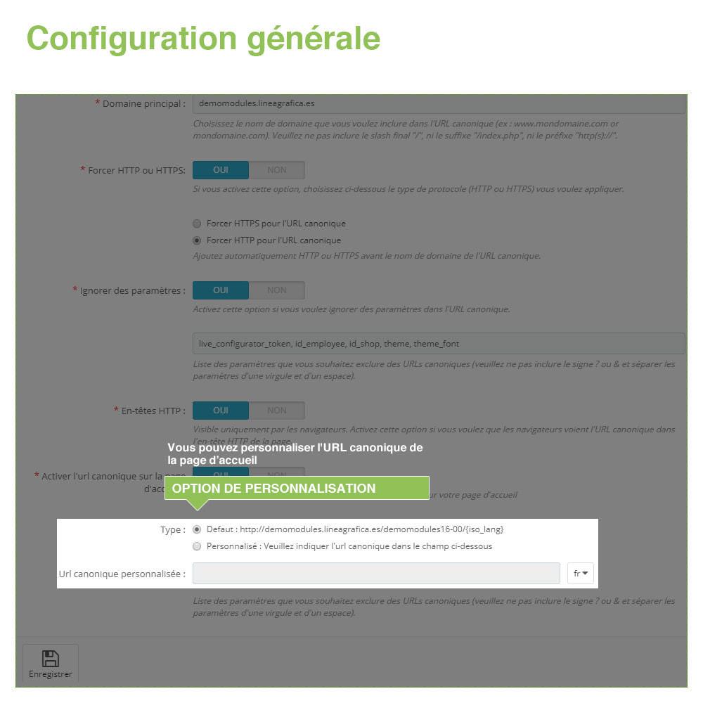 module - URL & Redirections - URL canoniques pour éviter les doublons - SEO - 7