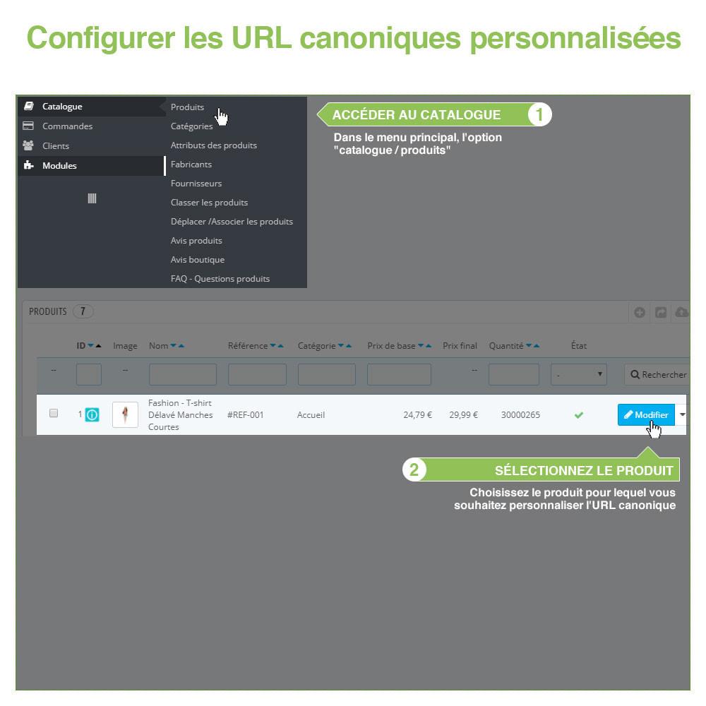 module - URL & Redirections - URL canoniques pour éviter les doublons - SEO - 10