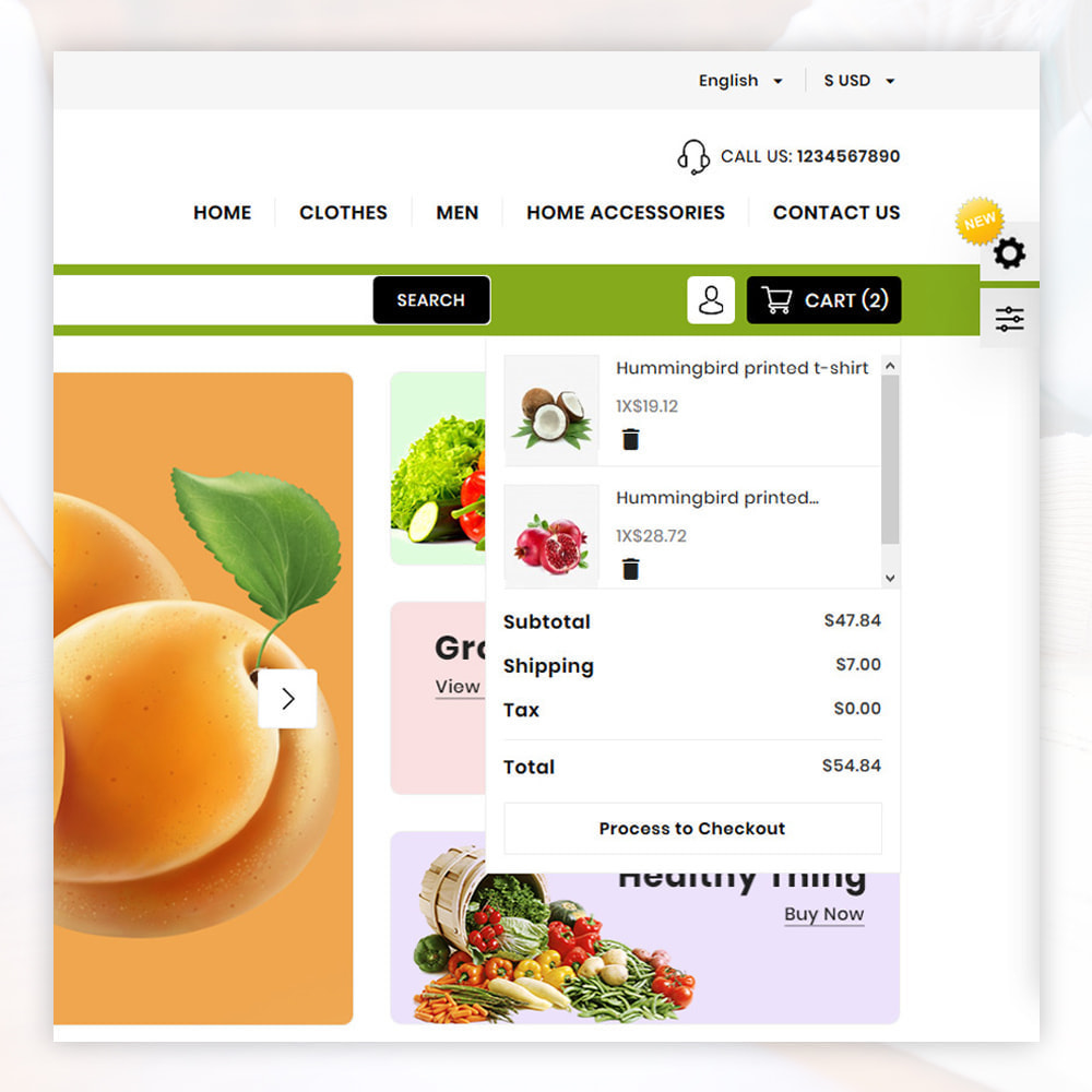 theme - Food & Restaurant - Organic Store - 6