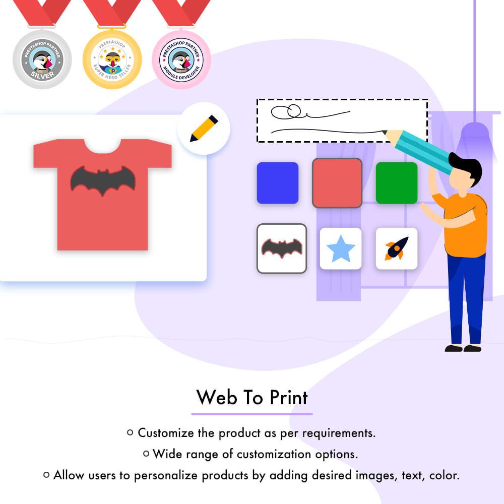 module - Versies & Personalisering van producten - Web to Print -  Product Customize - 1