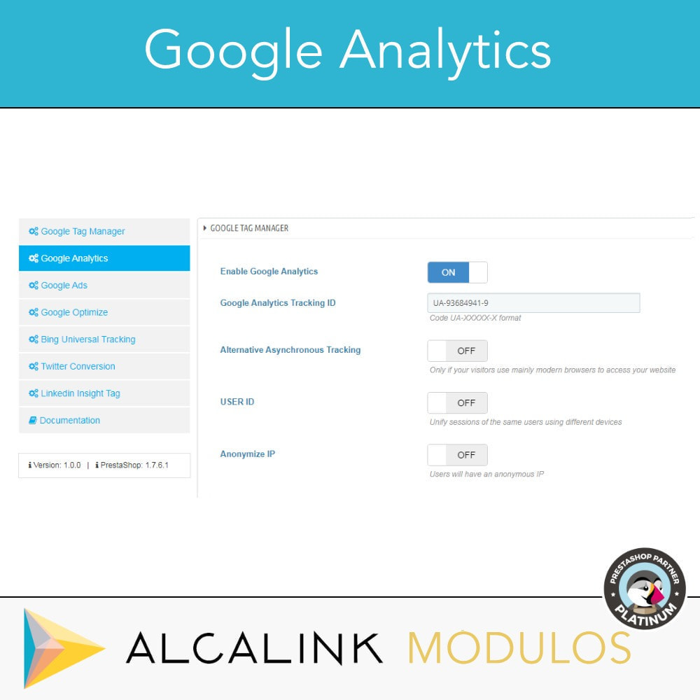 module - Análises & Estatísticas - Google Tag Manager + Add-ons. User activity. - 4