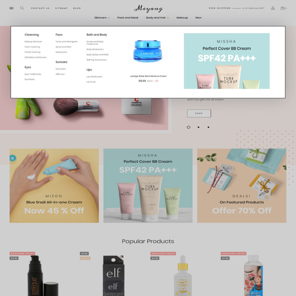 theme - Health & Beauty - Meyang - Korean Cosmetics Shop - 7