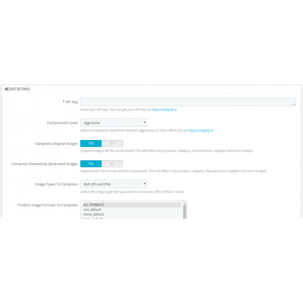 module - Website Performance - Compressore di immagini con IMAGIFY - 7