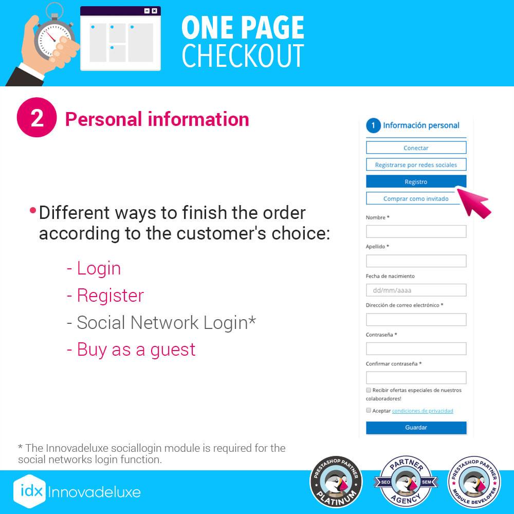 module - Express Checkout Process - One page checkout - Fast purchase process - 3