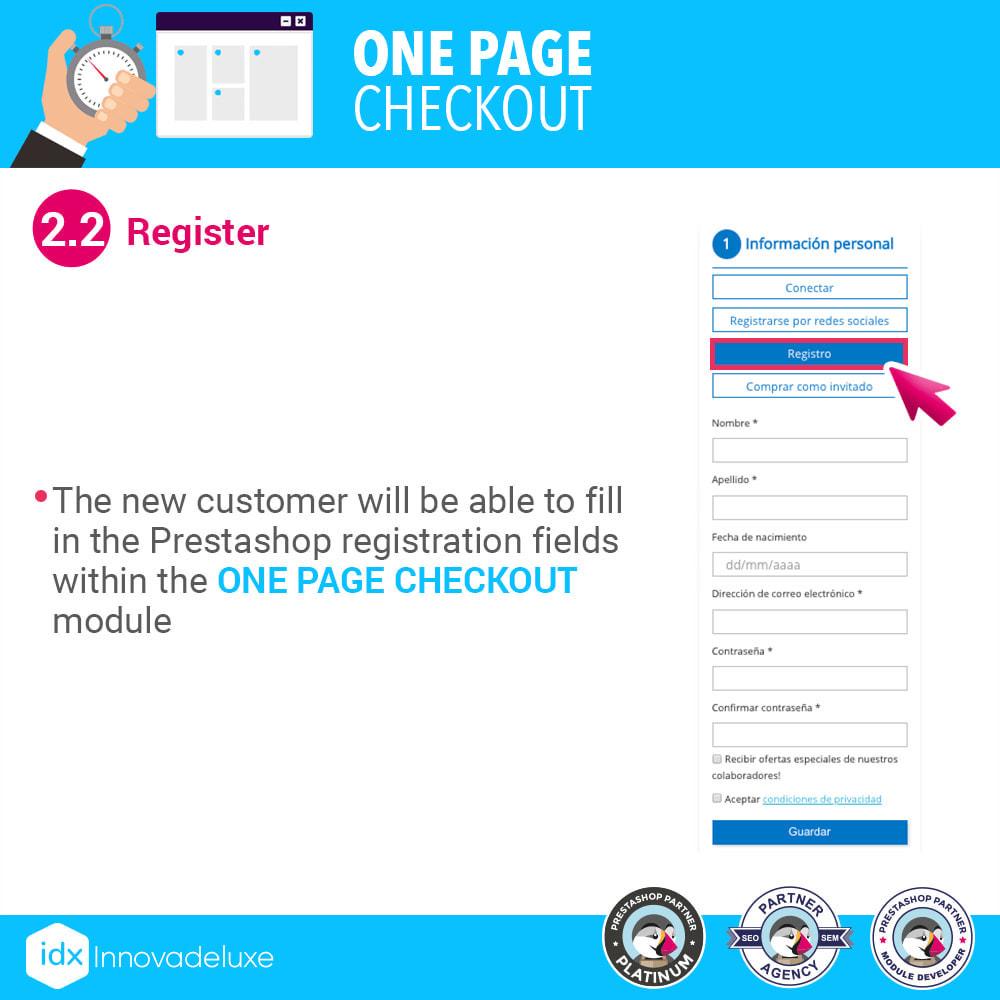 module - Express Checkout Process - One page checkout - Fast purchase process - 5