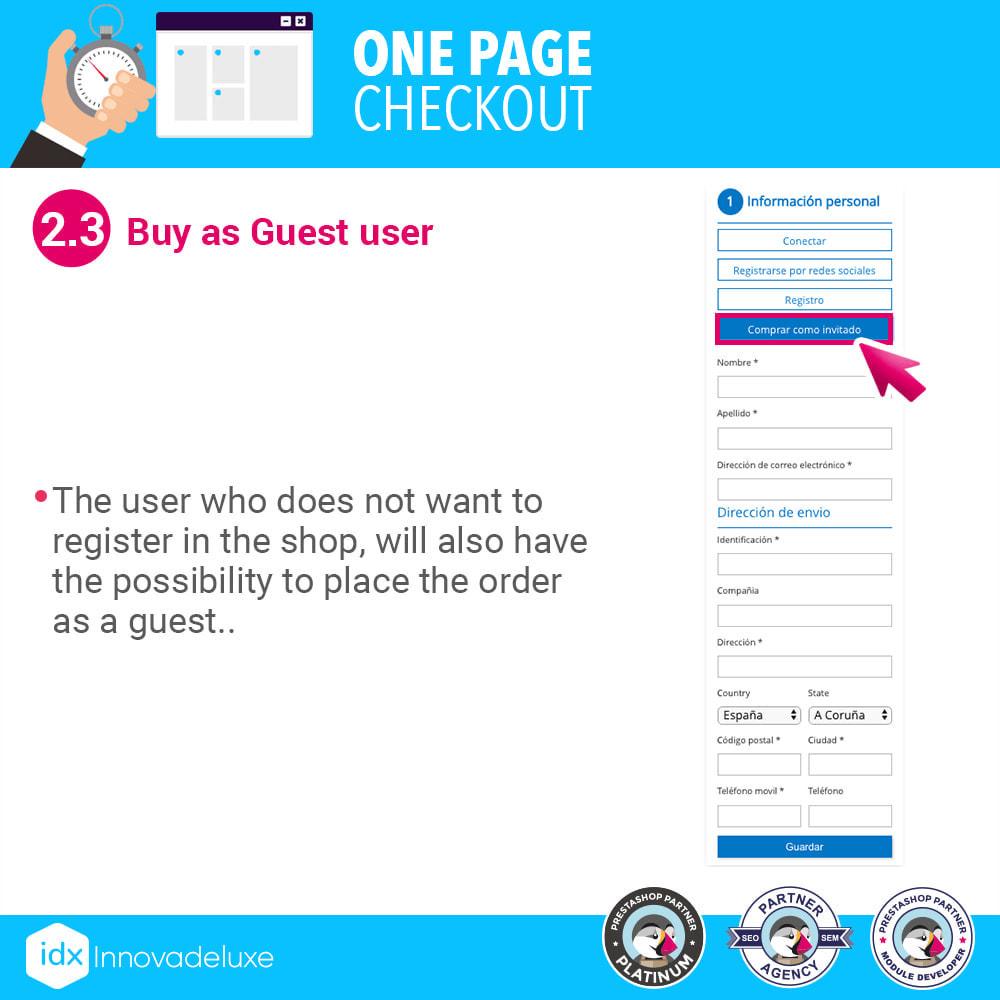 module - Express Checkout Process - One page checkout - Fast purchase process - 6