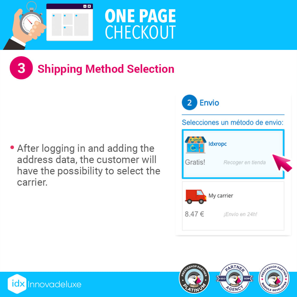 module - Express Checkout Process - One page checkout - Fast purchase process - 8