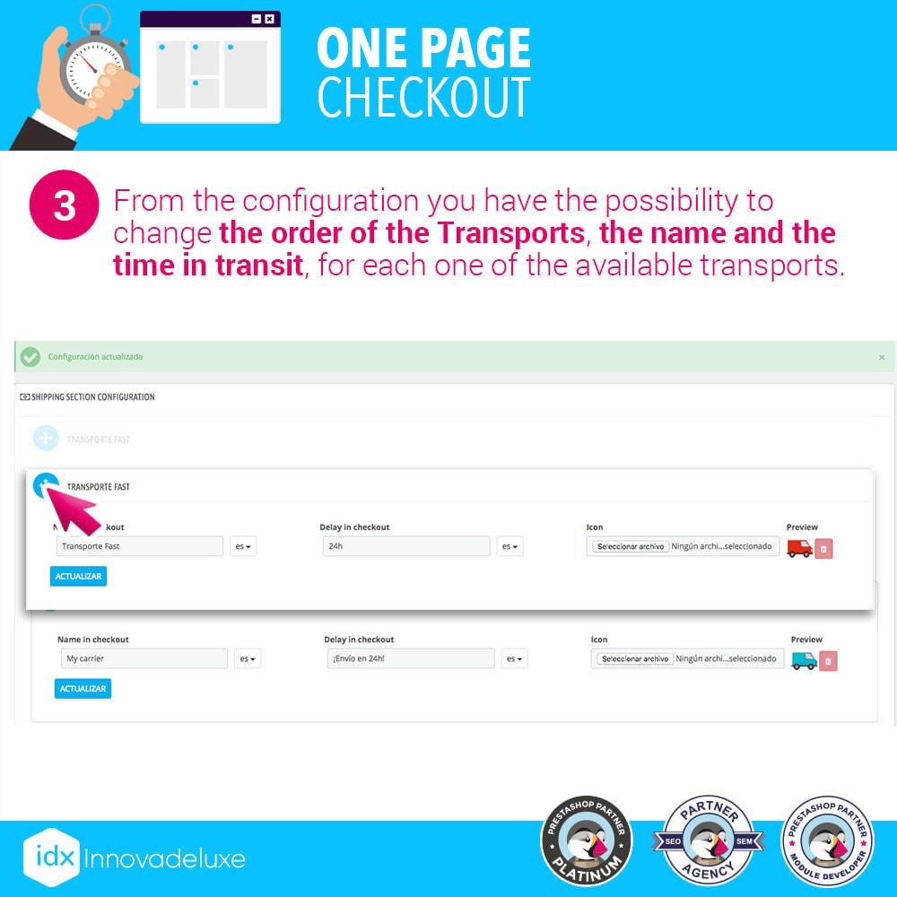 module - Express Checkout Process - One page checkout - Fast purchase process - 9