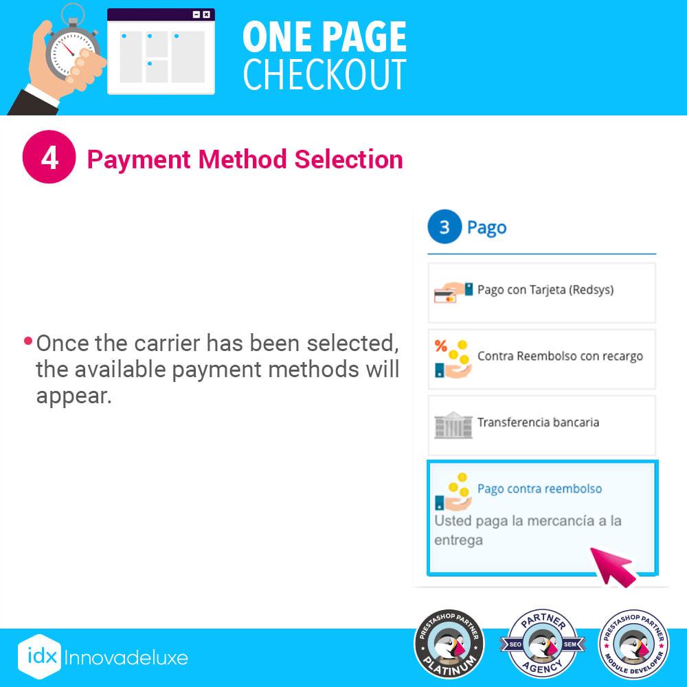 module - Express Checkout Process - One page checkout - Fast purchase process - 10