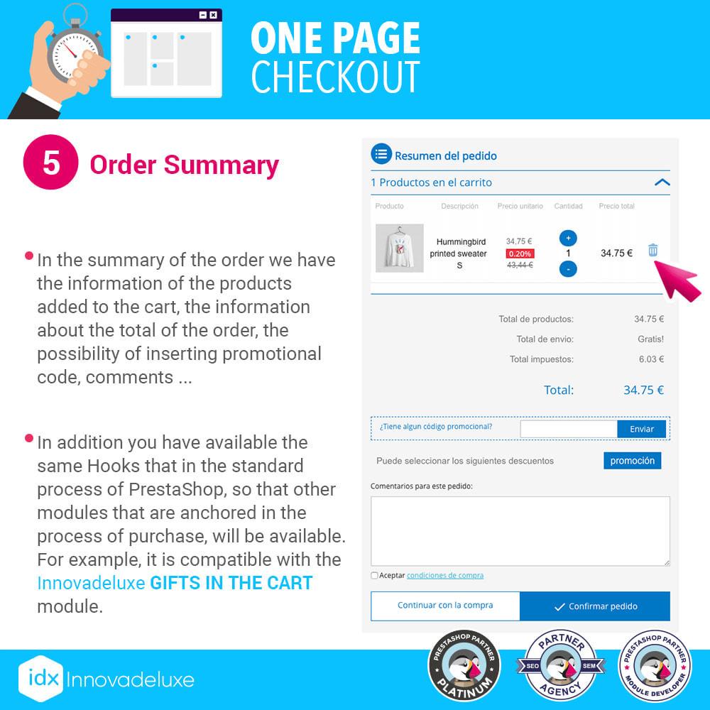 module - Express Checkout Process - One page checkout - Fast purchase process - 12