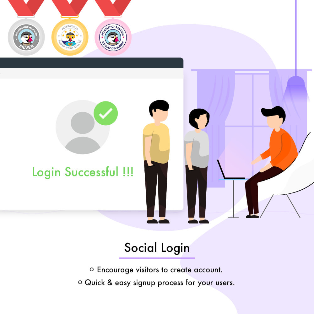module - Przyciski do logowania  & Connect - Social Login | One Click Registration/Sign in - 1