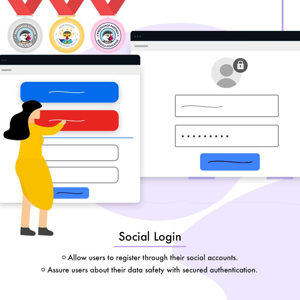 module - Boutons Login & Connect - Social Connexion | Inscription/connexion en un clic - 2