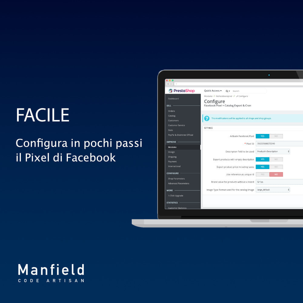 module - Prodotti sui Facebook & Social Network - Facebook Pixel + Track E-commerce + Catalogo e Cron - 4
