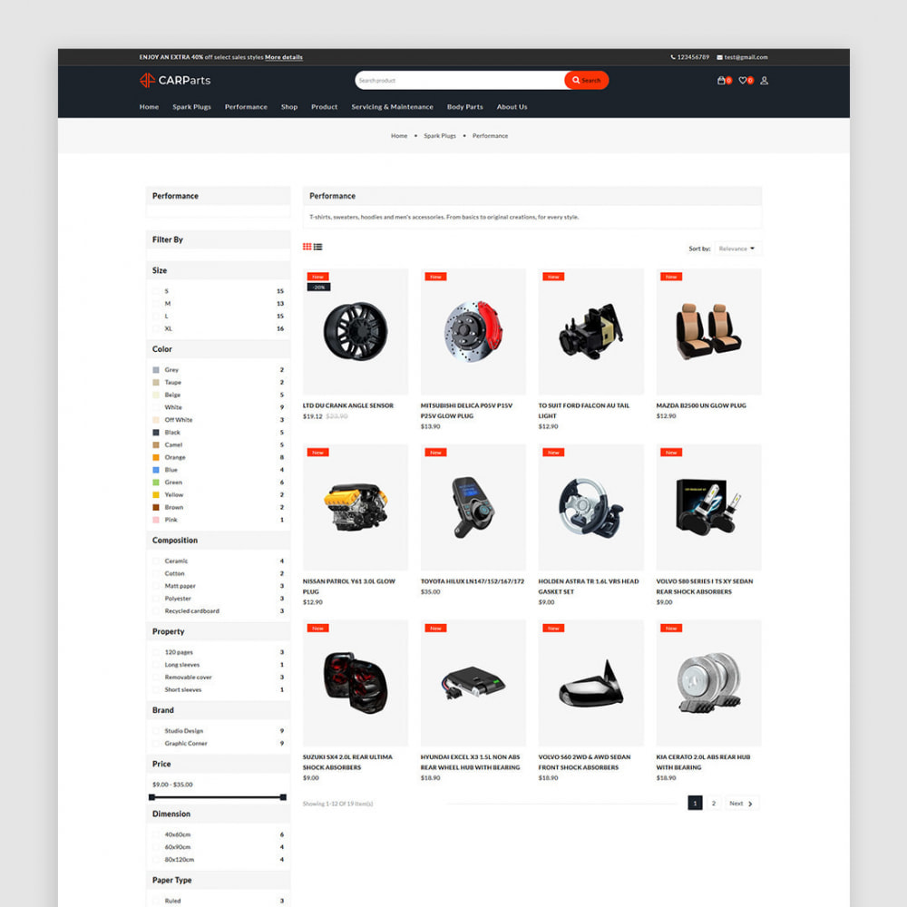 theme - Auto & Moto - Carparts - The auto, car parts store - 3