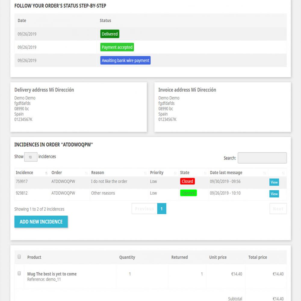module - Zarządzanie zamówieniami - Incidents Management - 6