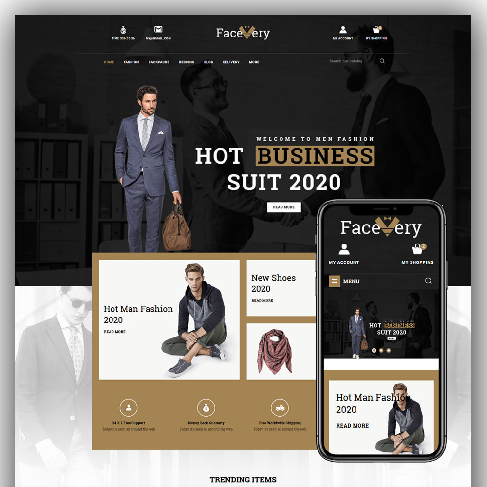 theme - Mode & Chaussures - Facevery - Men's Store - 1