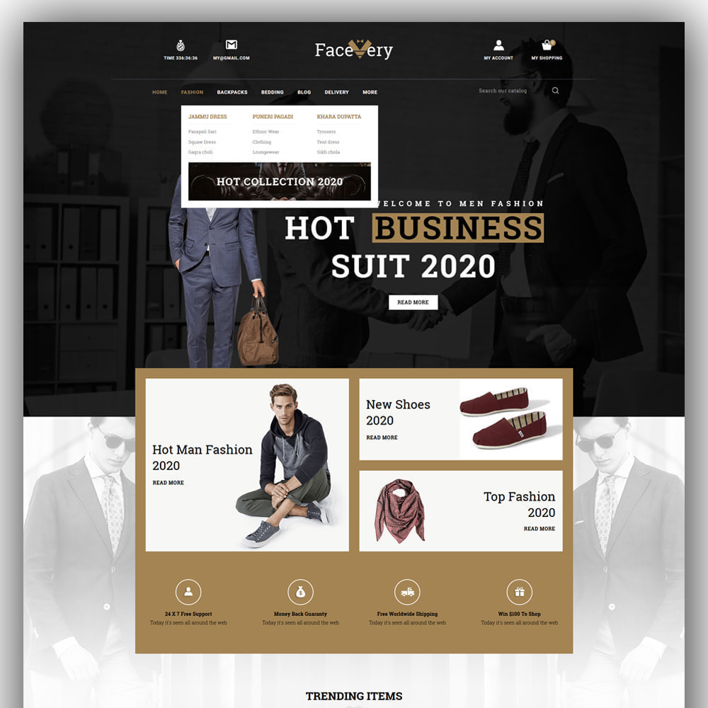 theme - Mode & Chaussures - Facevery - Men's Store - 2
