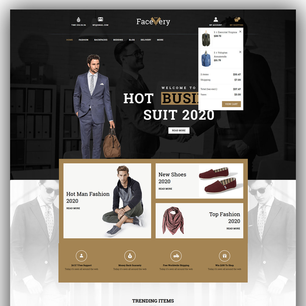 theme - Mode & Chaussures - Facevery - Men's Store - 3