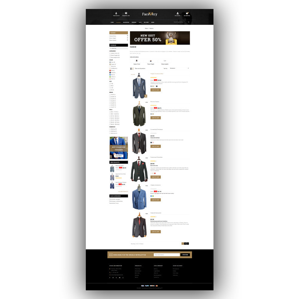 theme - Mode & Chaussures - Facevery - Men's Store - 5