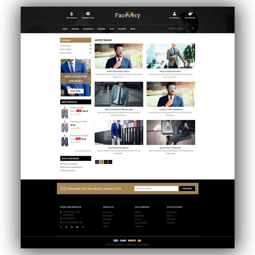 theme - Mode & Chaussures - Facevery - Men's Store - 7