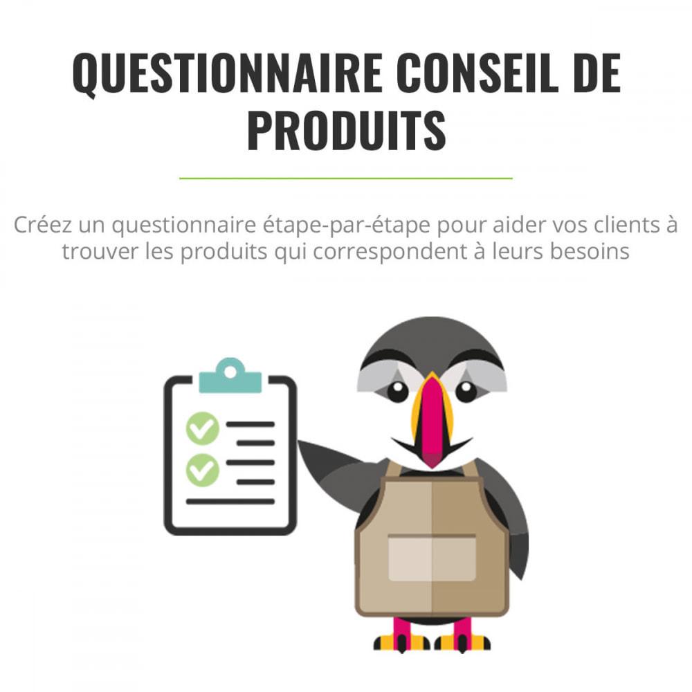 module - Formulaires de Contact & Sondages - Questionnaire de conseil de produits - 1